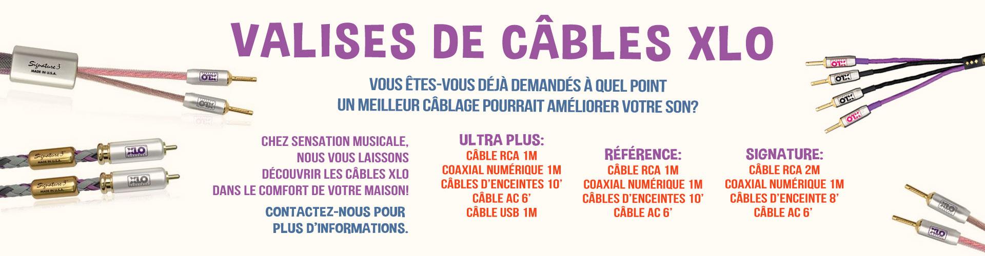 Câbles XLO prêt écoute à la maison Ultra Plus Référence Signature XLO CABLES SENSATION MUSICALE